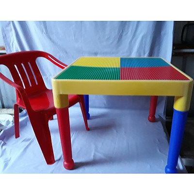 Lego Table & Child's chair