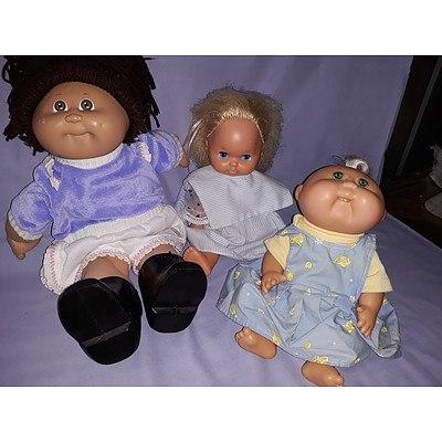 3 Vintage Cabbage Patch & Mattel dolls