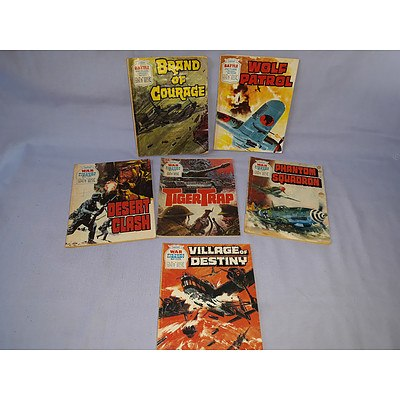 6 Battle Picture Library & War Picture Library Comic magazines