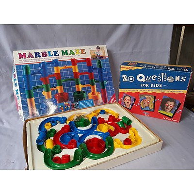 Marble Maze & 20 Questions for Kids game