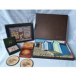 Assorted coasters and placemats