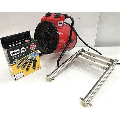 Spark Plug Cable Set, Fan Heater & Boat Ladder