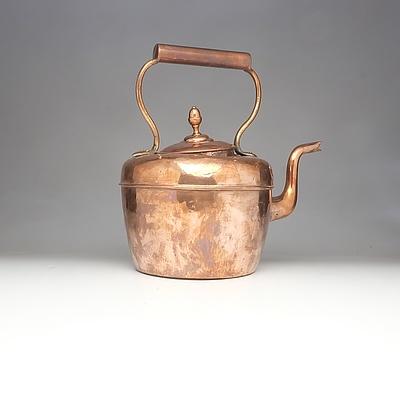 Large Antique English Maurice Cohen Copper Kettle