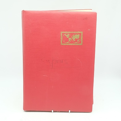 Stamp Dealers Stock Book Cyprus With Stamps From Queen Victoria Onwards