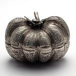 Lao Silver Pumpkin Form Tobacco Box