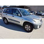 6/2001 Toyota Rav4 EDGE (4x4) ACA21R 4d Wagon Silver 2.0L