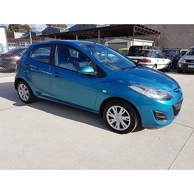 7/2012 Mazda Mazda2 NEO DE MY12 5d Hatchback Blue 1.5L