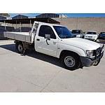 9/2003 Toyota Hilux  RZN149R C/chas White 2.7L