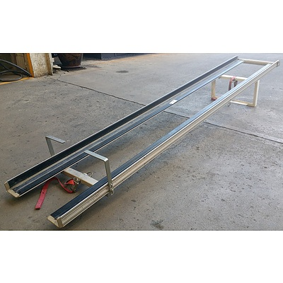 Vehicle Mounted Extension Ladder Racks - Lot of 2