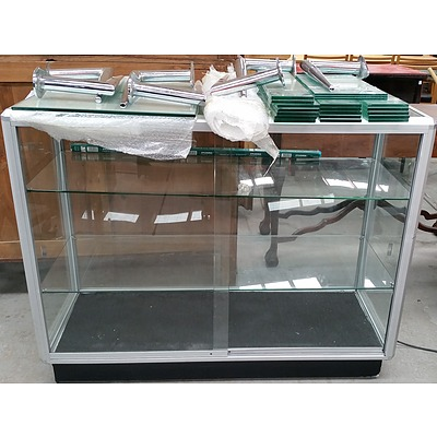 Mobile Glass Display Cabinet and Wall Mount Glass Shelving