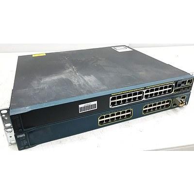 Cisco Gigabit Switches - Lot of 2