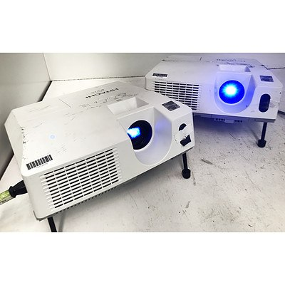 Hitachi CP-X3010N XGA 3LCD Projectors - Lot of 2
