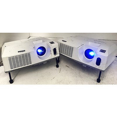 Hitachi CP-X3010N XGA 3LCD Projectors - Lot of 2