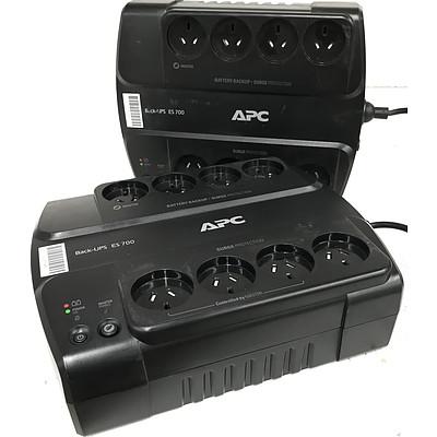 APC Back-UPS ES700 405w Desktop UPS - Lot of 2