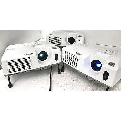 Hitachi CP-X3010N XGA 3LCD Projectors - Lot of 3