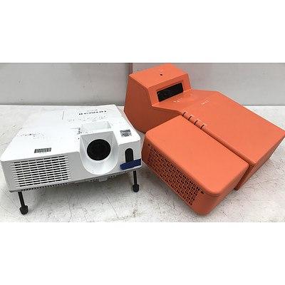 Hitachi CP-X3010N & Sanyo PLC-XE50A Projectors - Lot of 4