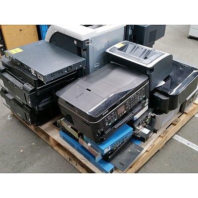 Bulk Lot of Assorted IT Equipment - Routers, Projectors, Printers & Servers