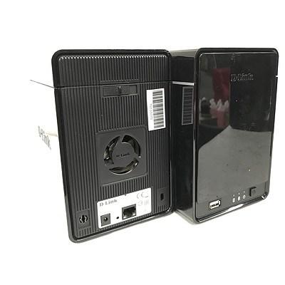 D-Link DNR-326 Network Video Recorder 2 Bay SATA HDD Storage Enclosures - Lot of 8