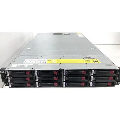 Hp P4500 AMD Quad-Core Opteron 2376 2.30GHz 2 RU 12-Bay SAS Storage System with 4.95TB