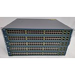Cisco (WS-C3560-48PS-S V05) Catalyst 3560 Series PoE-48 48-Port Fast Ethernet Switches - Lot of Five