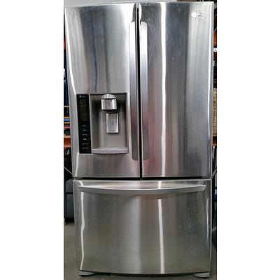 LG 615 Litre Double Door Fridge With Freezer Drawer