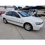 7/2004 Ford Falcon XT BA 4d Sedan White 4.0L