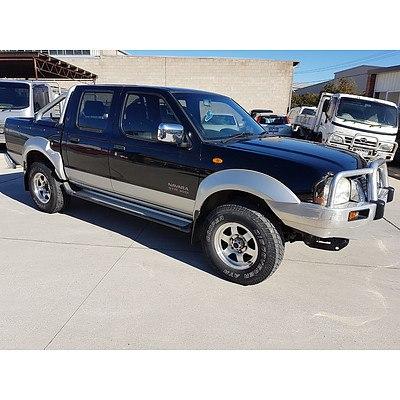 12/2006 Nissan Navara ST-R (4x4) D22 Dual Cab P/up Black/Silver 3.0L