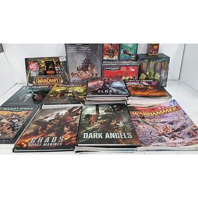 Selection of Fantasy Books, Cards, Models and Figurines