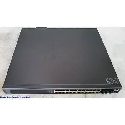 Netgear ProSafe (M5300-28G-POE+ V1H2) 24-Port Gigabit L2+ PoE+ Managed Switch with 10 Gigabit Stacking