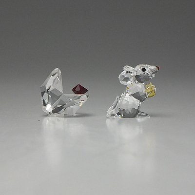 Swarovski Mouse and Shell Figurines