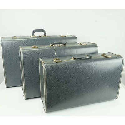 Set of Three Vintage Durolite Travelling Trunks