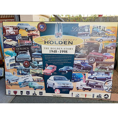 The Holden Story 50th Anniversary 1948-1998 Block Mounted Print