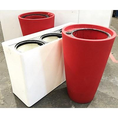 Red & White Sub-Irrigation Pots