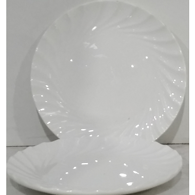 Scalloped Edge Entree Plates - Lot of 40 - Brand New