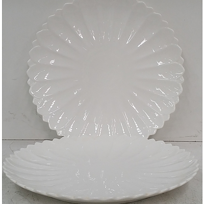 Scalloped Edge Serving Plates - Lot of 10 - Brand New