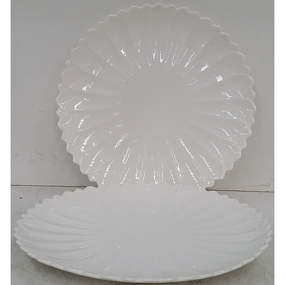 Scalloped Edge Serving Plates - Lot of 10 - New