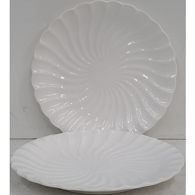 Scalloped Edge Serving Plates - Lot of 22 - New