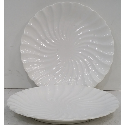 Scalloped Edge Serving Plates - Lot of 14 - New