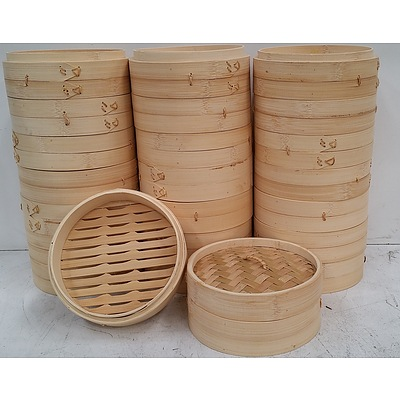 Bamboo Steamer Baskets - Lot of 23 - New