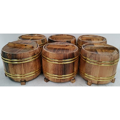Rice Serving Buckets - Lot of Six - New