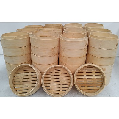 Bamboo Steamer Baskets - Lot of 75 - New