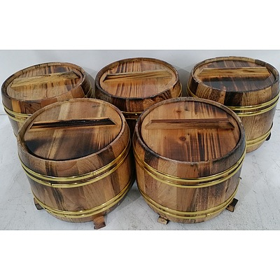 Rice Serving Buckets - Lot of Five - New