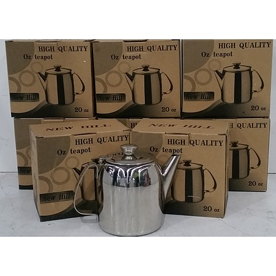 500ml Stainless Steel Teapots - Lot of Eight - Brand New