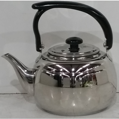 Stainless Steel Teapots - Lot of 10 - Brand New
