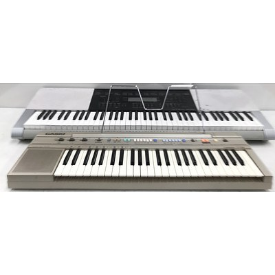 Casio WK-220 & CT-350 Electronic Keyboards