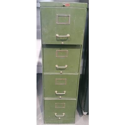 Vintage Four Drawer Filing Cabinet