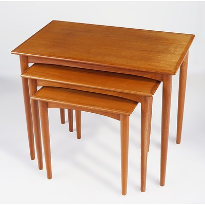 Parker Teak Nesting Tables Circa 1960s