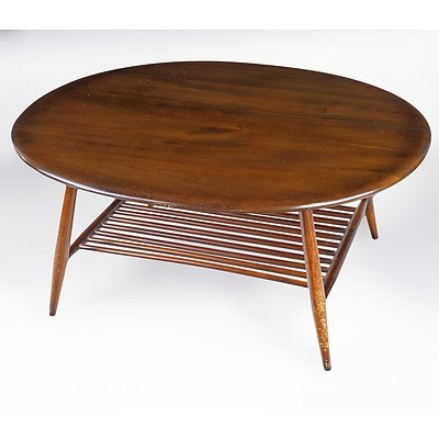 Ercol Oval Elm Coffee Table