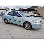9/2003 Toyota Camry Altise MCV36R 4d Sedan Blue 3.0L