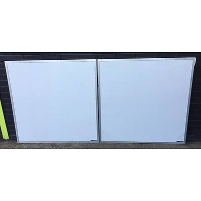 Assortment of Four Whiteboards